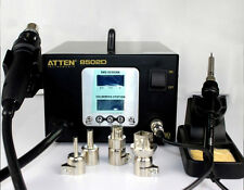 Dual LCD 2 IN 1 ATTEN AT-8502D 900W Pro Hot Air Rework + Iron Soldering 220V Y