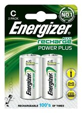 Energizer C Size Rechargeable Batteries 2 PACK 2500 mAh Battery BRAND NEW