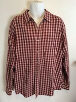 James Tattersall Mens Long Sleeve Shirt Button Front Plaid Check XXL