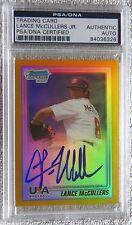 Lance McCullers Jr. 2010 Bowman Chrome Gold Refractor Auto Proof PSA/DNA COA