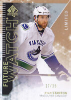 13-14 SP Authentic Ryan Stanton /25 Rookie LIMITED Future Watch Canucks 2013
