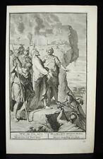 Antique Biblical Etching Balaam bénit les israélites 1728 B Bernards G Hoet