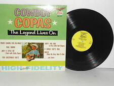 COWBOY COPAS The Legend Lives On LP Vinyl Mono Blue Kimona Pretty Diamonds
