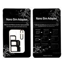 Nano SIM Card to MICRO Standard SIM Adapter converter SET For iPhone & Samsung *