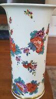 "Lenox ""Saxony"" Porcelain 8"" Floral Vase Smithsonian 1725 Meissen Repro Design"