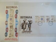 BOTSWANA STAMPS, SOUVENIR SHEET, OFFICIAL FIRST DAY COVER STAMPED ENVELOPE 1972