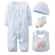 Carter's Little Owl Layette Set for Baby Girl 6 Months Gown, Bib, Cap & Socks