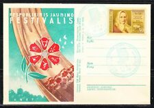 Soviet Russia Lithuania 1957 local cover Youth Festival.Limited Issue