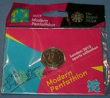 NIP Olympics London 2012 Sports 18/29 50 Pence Modern Pentathlon Coin Royal Mint