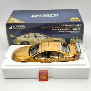 1:18 Classic Carlectables CRAIG LOWNDES #100 Race Wins Holden VF Commodore 18597