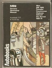 Mini 1959-75 Autobook  Owners manual. Good condition. ELF, HORNET CLUBMAN 1275