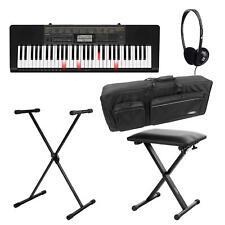 Casio LK-265CA 61 Leuchttasten Keyboard Set Ständer Kopfhörer Keyboard Tasche