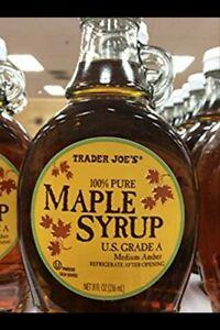 2 Packs Trader Joe's 100% Pure Maple Syrup - U.S. Grade A 8 fl oz Each Pack