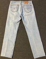 Vtg Levi's 505 Jeans 35/32 Faded Grunge 80s 90s USA Biker Hiking Retro Punk