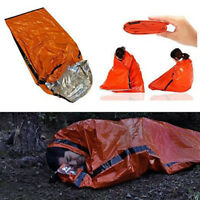 Heavy Duty Emergency Solar Thermal Sleeping Bag Bivvy Sack Survival Camp New Hot