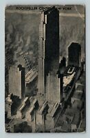 New York City NY, Rockefeller Center, New York Vintage c1934 Postcard