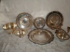 VINTAGE SILVER OLD ENGLISH REPRODUCTION LOT OF 11, NOT JUNK