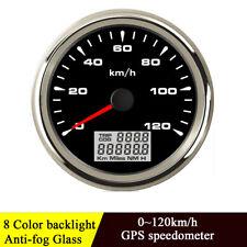 85mm Black GPS Speedometer Gauge 120 KM/H Odometer For Car Truck Motorcycle ATV