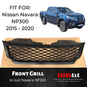 Black Mesh Grill for Nissan Navara NP300 2015 - 2020 Ute Aftermarket Grille