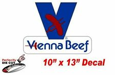 Vienna Beef 10''x13'' Decal Sign for Hot Dog Cart or Concession Stand Menu