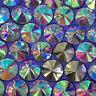 Lot AB Color Round Rhinestones Crystal Glass Beads Pendent For Jewelry Making