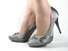 Womens Stiletto High Heels Office Walk Party Evening Bow Court Pump Shoes Size