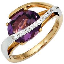 Natürliche Ringe aus mehrfarbigem Gold mit Diamant-Edelsteinen