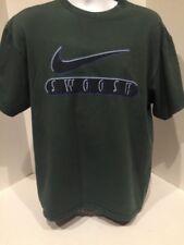 Vintage Nike Swoosh Logo T Shirt White Tag Men's Large Green Shirt
