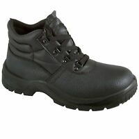 Leather Chukka Safety Work Boots  Steel Toe Cap & Midsole Size 3-13 Mens New Sof