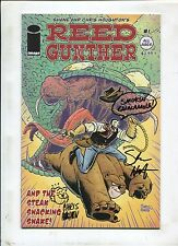 Reed Gunther #1 ~ Signed & Remarked By Chrisa & Shane Houghon ~ (Grade 9.2 OB)WH