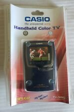 """Vintage Casio Handheld Color TV-980 2.3"""" LCD Analog Television New Sealed"""