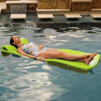 """Texas Rec 70"""" x 25"""" x 1.25"""" Sunray Swimming Pool Foam Mattress Float - Lime"""