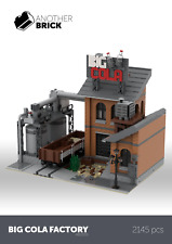 LEGO City Modular Custom Building Big Cola Factory INSTRUCTIONS ONLY!