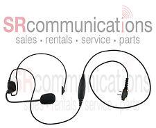 Light weight PTT behind the head headset Icom F14 F21 F24 F4011 F3001 F3GS F4GS
