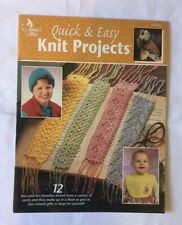 """""""Quick and Easy Knit Projects"""". Instruction and pattern book."""