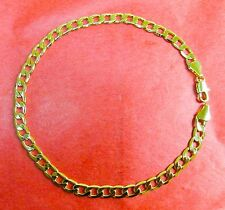 "NEW 14k Karat Gold Filled Cuban Link 9"" Anklet Ankle Bracelet"