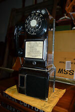 Vtg Chrome Automatic Electric 3-Slot Coin GTE Payphone  LPB 86-55 Works