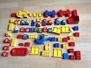Lego Duplo Konvolut: Hubschrauber, Boot mit Taucher, Auto, Anhänger 62 Teile