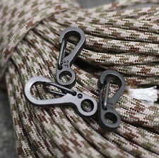 5pcs Mini EDC Gear Snap Spring Clip Hook Stainless Steel Outdoor Keychain Tool