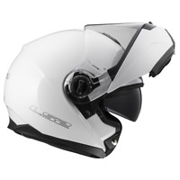 LS2 FF325 STROBE INTÉGRAL FACETTE à rabat moto Casque integral moto blanc