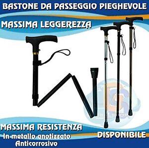 BASTON EN ALUMINIO ULTRALIGERO PLEGABLE Y AJUSTABLE (82-95 CM/ 4 POSICIONES)