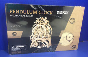 ROKR - Pendulum Mechanical Gear Clock (LK501) FACTORY SEALED KIT
