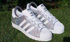 BNWB & Rare Adidas Originals Superstar W Holograma Iridiscente entrenadores UK Size 9