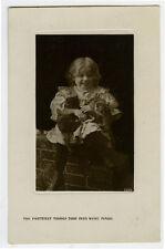 c 1911 Child Children Cute Girl w/ Cat photo postcard