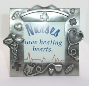 Nurse Medical Themed Pewter Picture Frame
