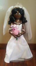 "African American Bride Nutcracker Bridal Wedding Wooden Christmas Black 15"" NEW"