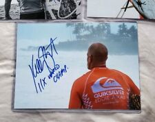 KELLY SLATER SIGNED 8X12 PHOTO WITH RARE 11X WORLD CHAMPION PROOF LIMITED TO 1!
