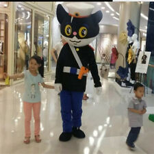 2018 Mr Black Cat Mascot Costume Cartoon Suit Party Animal Stage Dress Cosplay A
