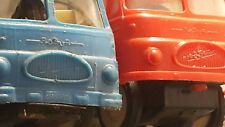 VINTAGE ROBUR TOYS BUS AND FIRETRUCK FRICTION METAL PLASTIC GERMANY DDR GDR