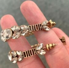 Authentic Dior Earrings with Crystal